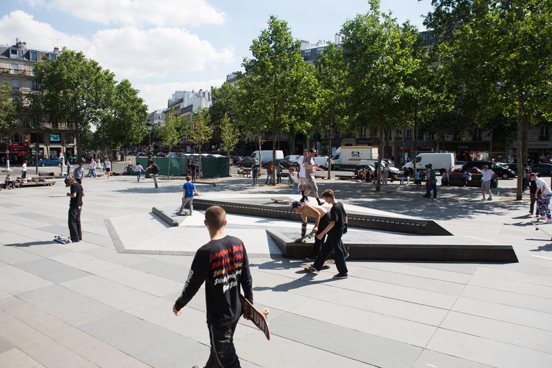 Área de deslizamiento de la Place de la République