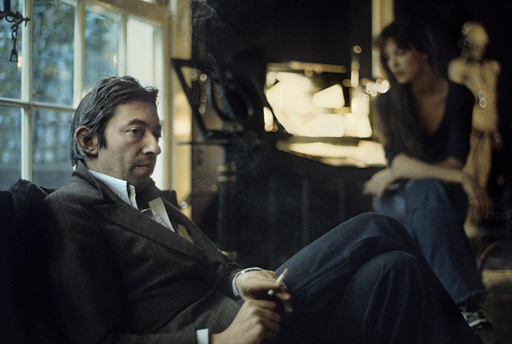 Serge Gainsbourg et Jane Birkin, rue de Verneuil, Paris 1974
