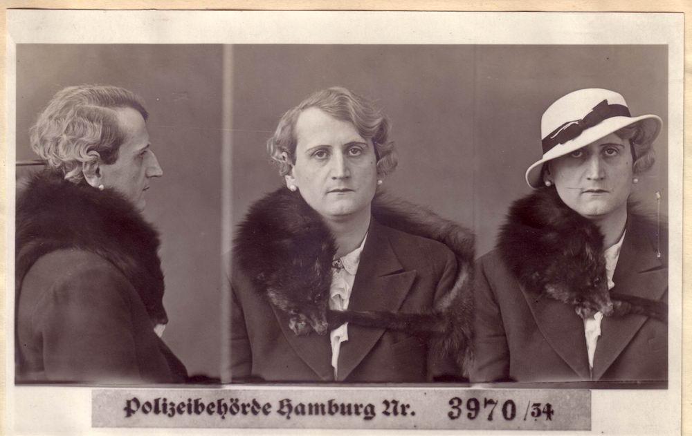 Photographie d'identité judiciaire de Rudolf Müller,