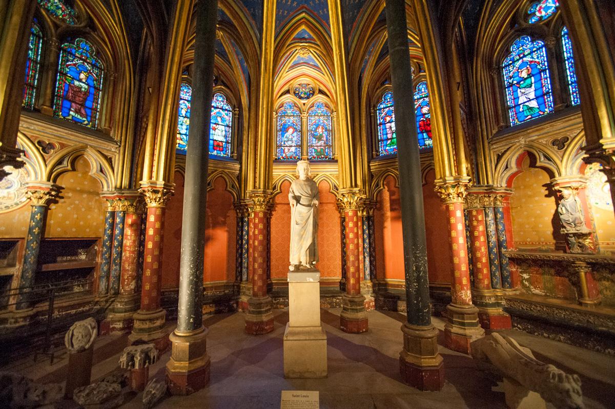 La Sainte Chapelle sur l'île de la Cité.