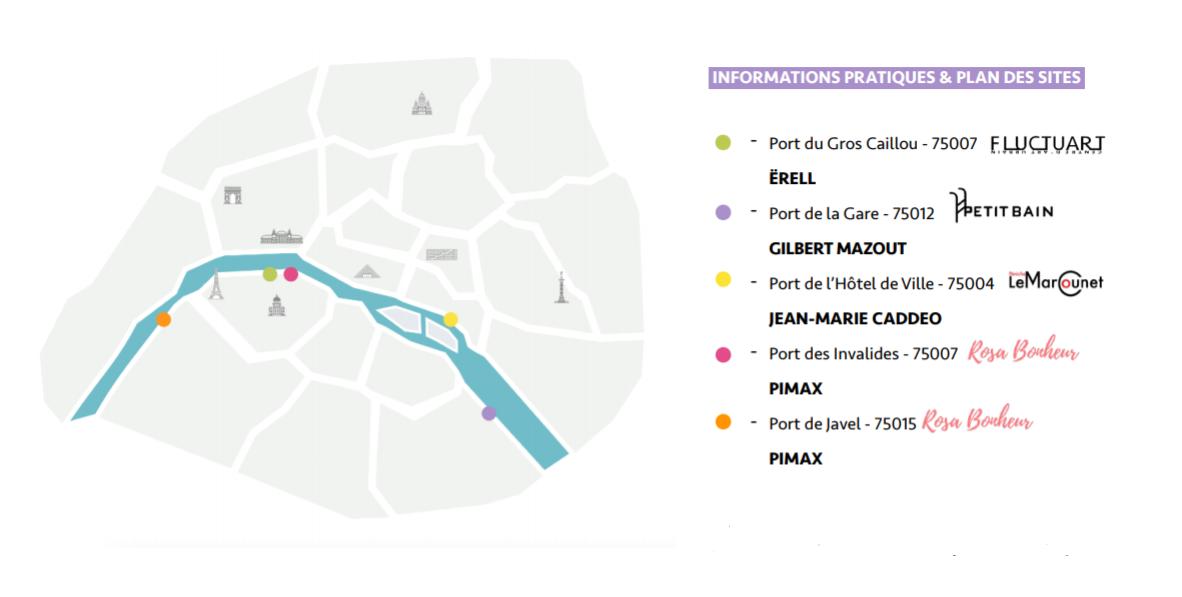 Plan des sites de l'exposition « Libres ensemble »
