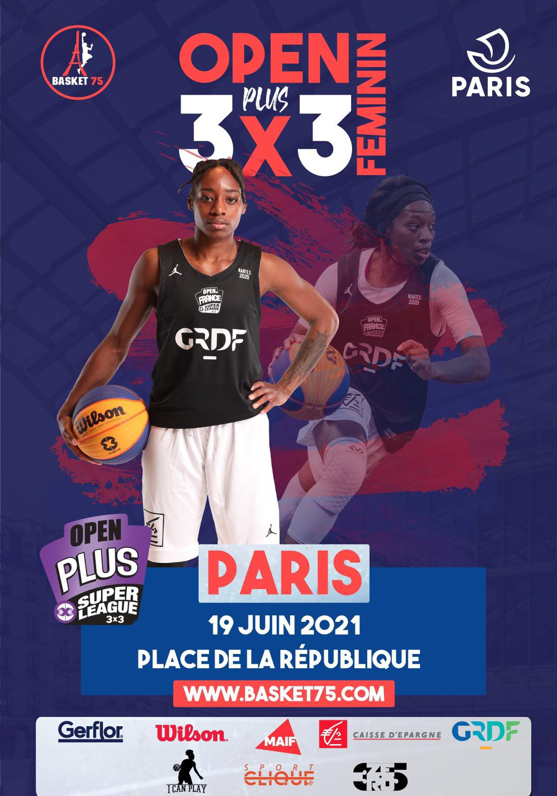 Affiche de l'Open Plus Féminin de Paris