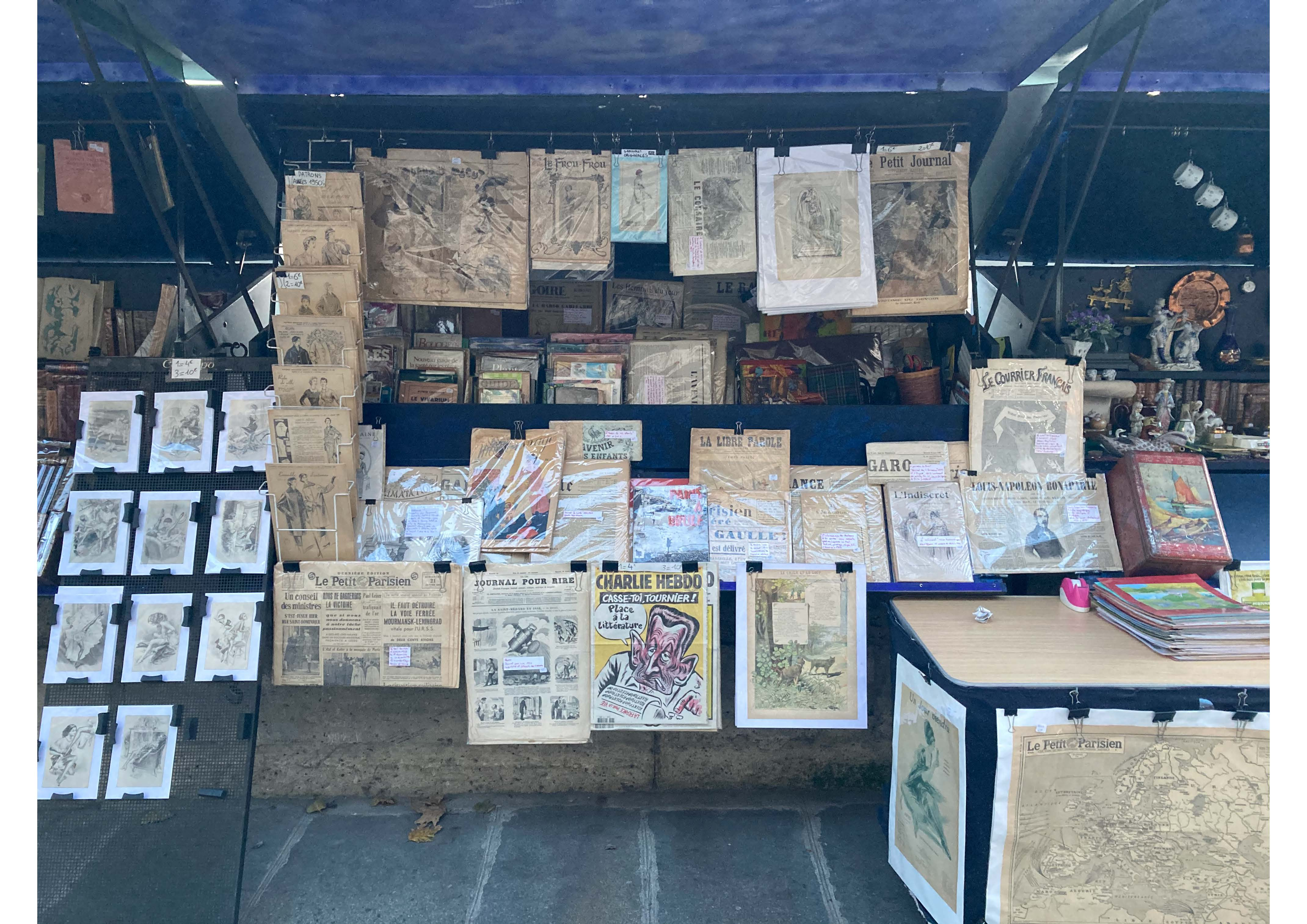 Stand bouquiniste- journaux