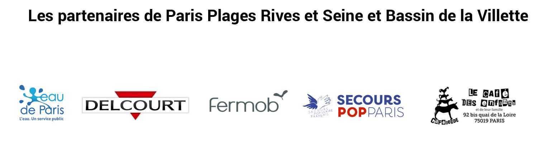 Logo partenaires Paris Plages 2021