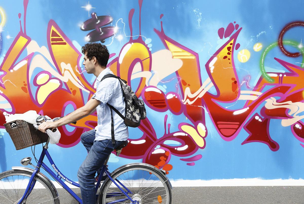 Street Art à Paris Plages Rives de Seine