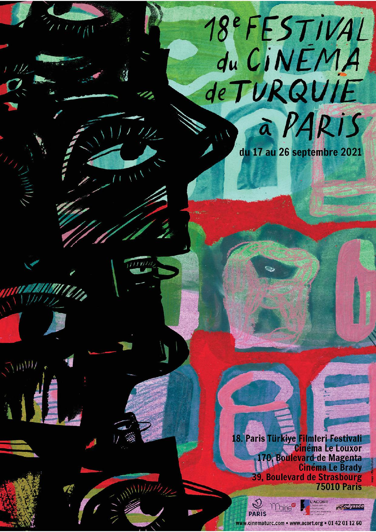 affiche _18eme festival du Cinéma de Turquie à Paris