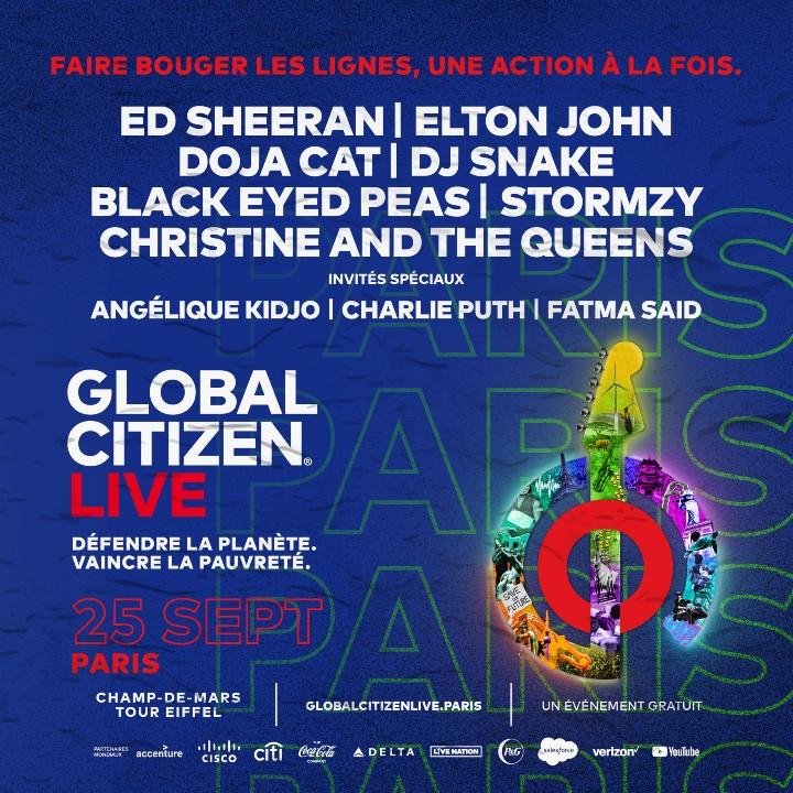 Programmation du Global Citizen Live à Paris