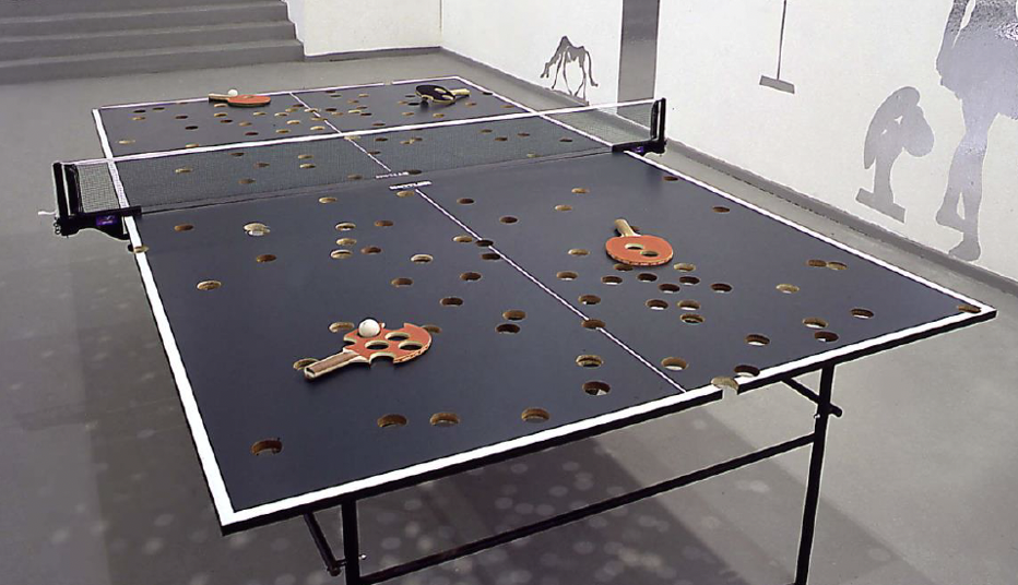 Richard Fauguet - Sans titre (table de ping-pong)