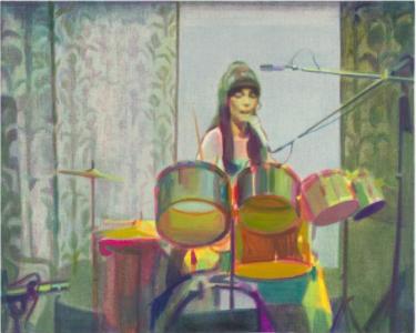 Nina Childress, Karen fond vert, 2018