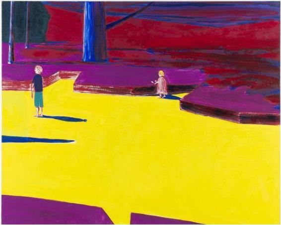 Oeuvre de Benjamin Swaim, peinture intitulée Parc Montsouris (3), de 2017