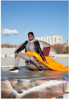 Oeuvre de Melika Shefahi, intitulée Kanelle, de la série Rapproche, de 2018-2019, une photographie.