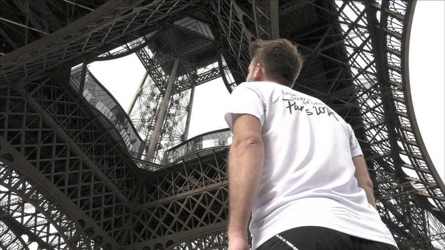Course la verticale de la tour