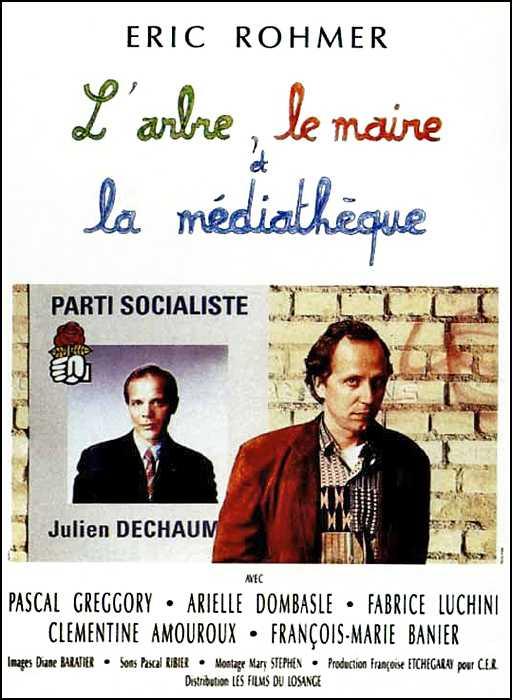 """affiche """"L'arbre, lemaire et la médiathèque"""""""