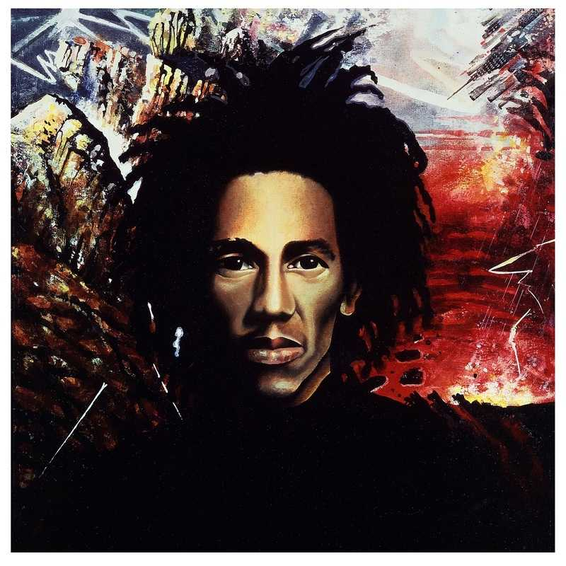 6.Natty Dread, Tony Wright, 1975, peinture originale pour l'album de Bob Marley and The Wailers, Natty Dread (1974, Island)