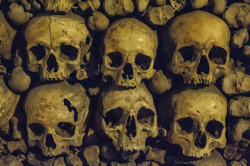 Têtes de mort / Les Catacombes