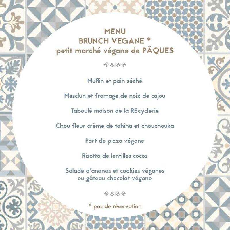 Menu du brunch 100% végane