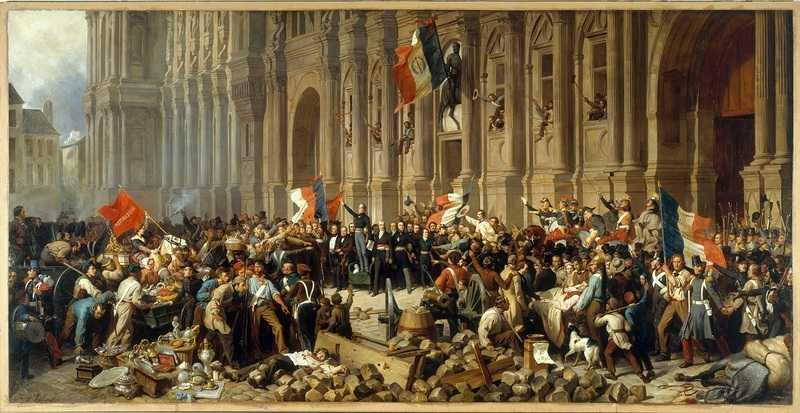 Lamartine repoussant le drapeau rouge devant l'Hôtel de Ville, le 25 février 1848