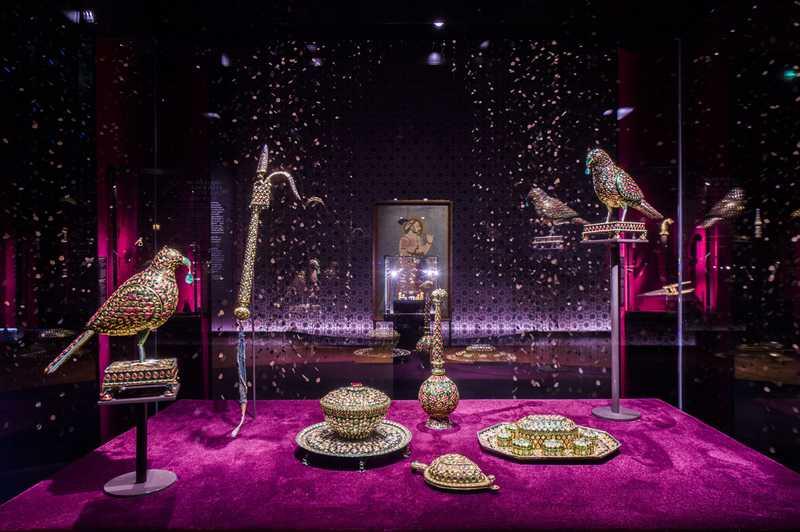 Vue de l'exposition Joyaux de la collection Al Thani