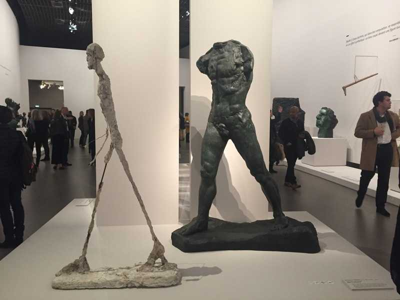 Exposition Rodin, Homme qui marche de Giacometti, Homme qui marche de Rodin