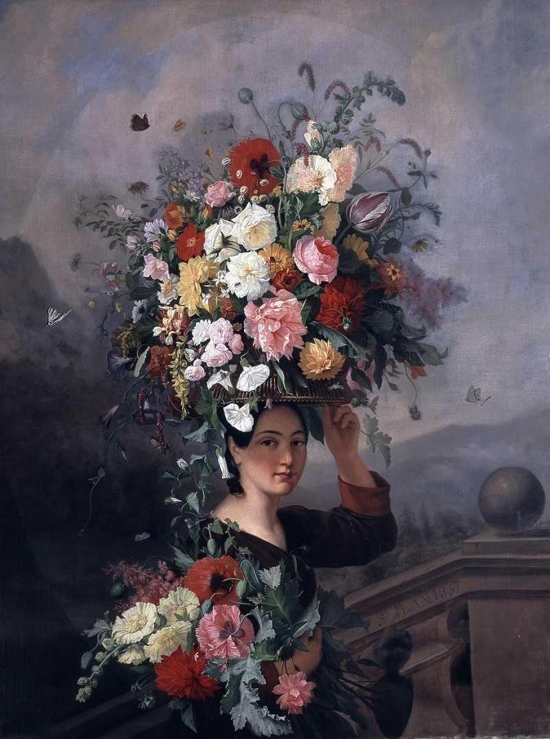 Simon Saint- Jean (1808-1860), La Jardinière, 1837, Lyon, musée des Beaux-arts