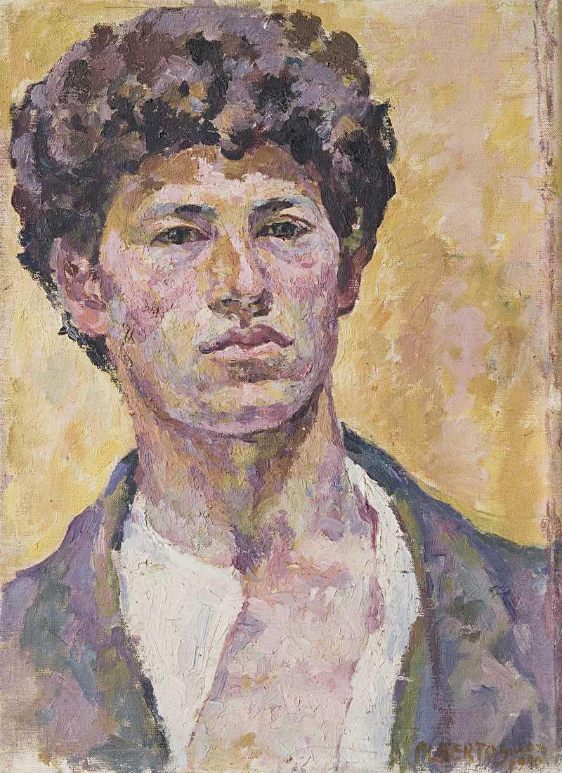 Alberto Giacometti (1901-1966), Autoportrait, 1920 Huile sur toile, 41.0 x 30.0 cm