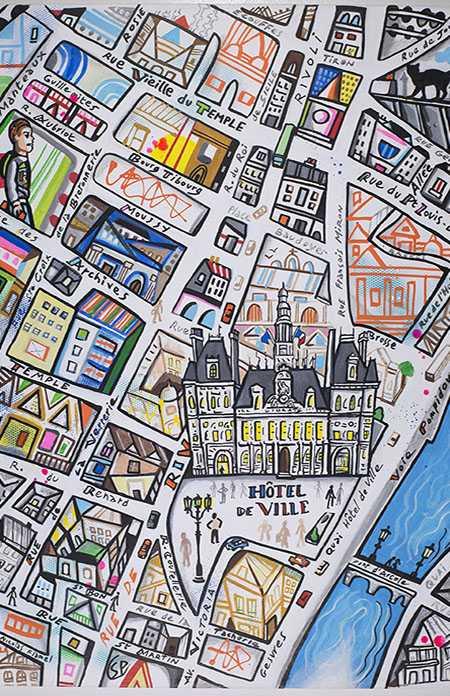 Street Paris de Simon Pradinas aux Editions du Chêne