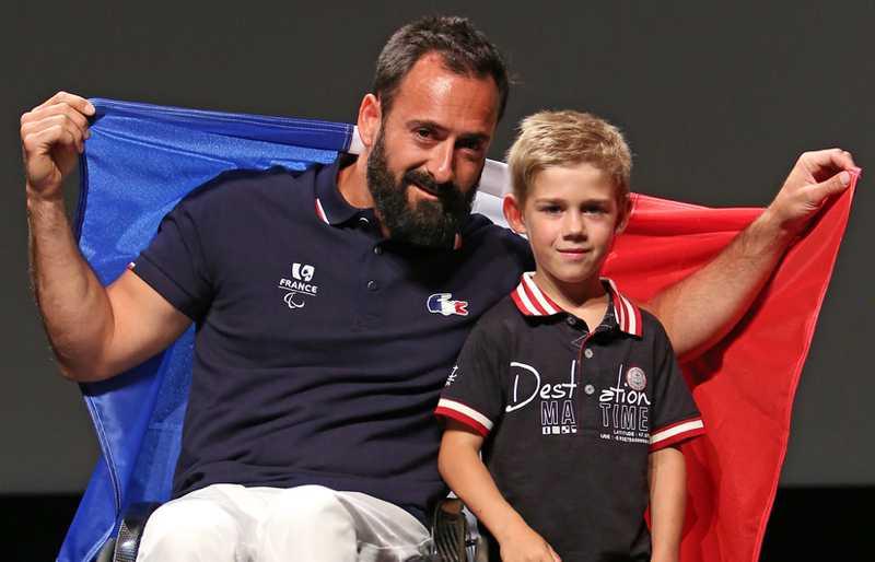 Michaël Jérémiasz, porte drapeau paralympique