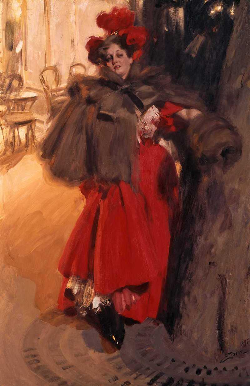 Anders Zorn, Effet de nuit, huile sur toile, 1895.