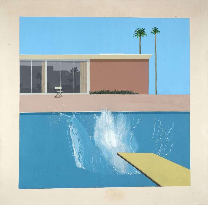A Bigger Splash, 1967 Acrylique sur toile 242,50 x 243.90 x 3 cm