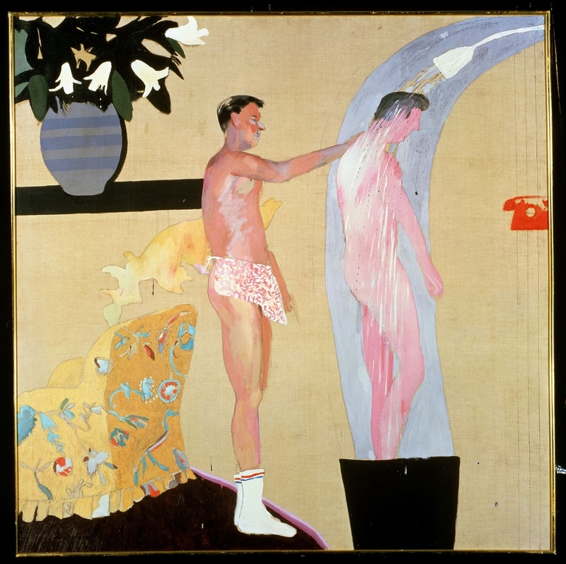 Domestic Scene, Los Angeles, 1963 Huile sur toile 153 x 153 cm