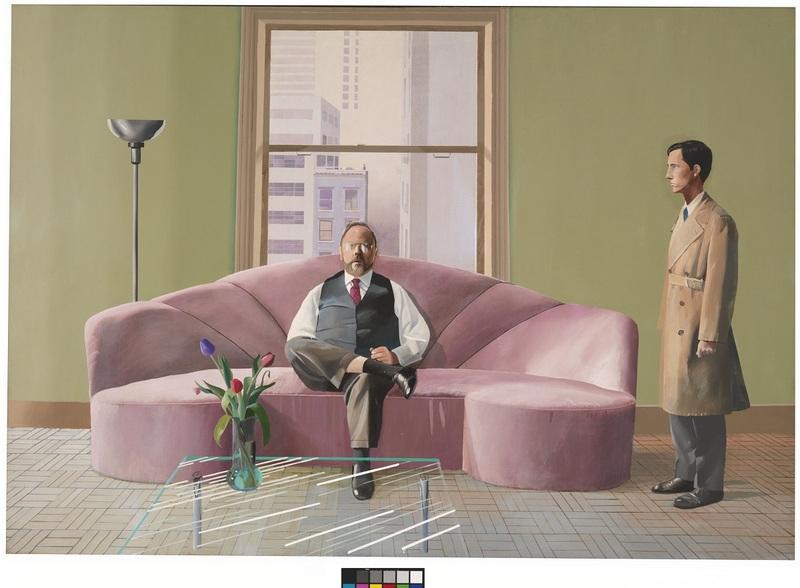 Henry Geldzahler and Christopher Scott,1969 Huile sur toile 214 x 315 cm