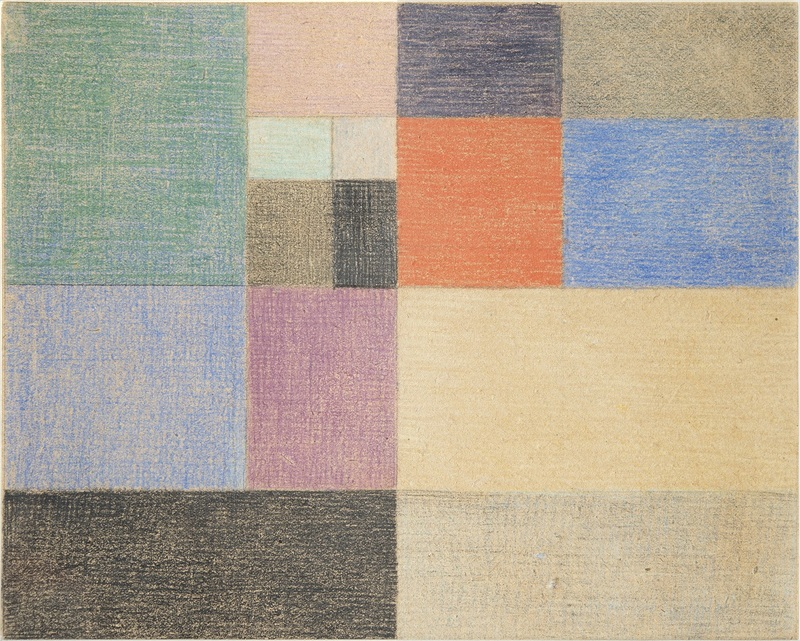 Composition verticale – horizontale, 1916