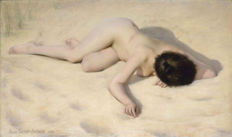 10. Pierre Carrier-Belleuse, Sur le sable de la dune.