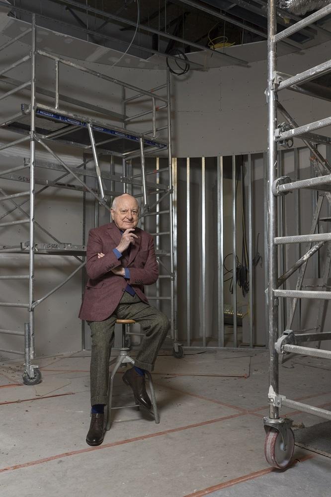 ierre Bergé dans les travaux du Musée Yves Saint Laurent Paris, 2017 © Luc Castel