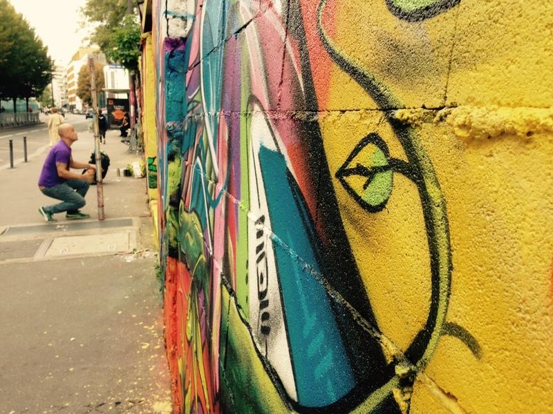 dAcRuZ en pleine action-Rue de l'Ourcq-Paris 19