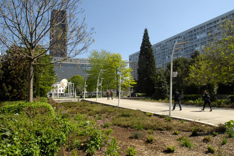 Le Jardin Atlantique est installé au-dessus de la gare Montparnasse