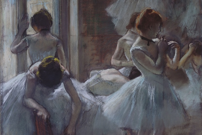 Danseuses dit aussi Groupe de danseuses, entre 1884-1885