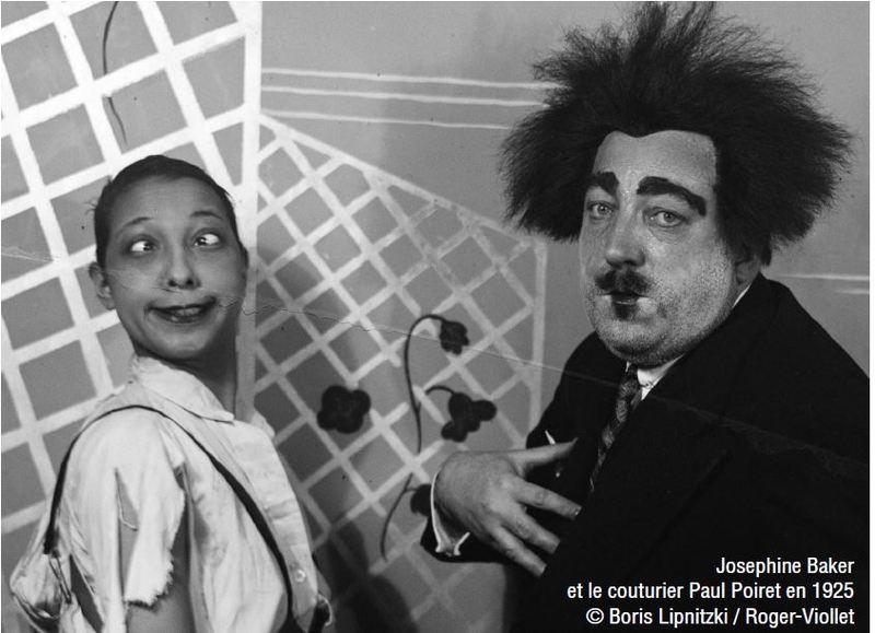 Josephine Baker et le couturier Paul Poiret en 1925