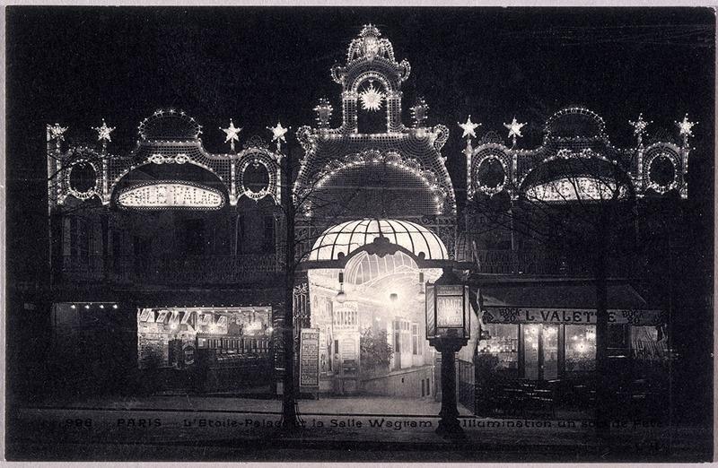 L'Étoile-palace et la salle Wagram, illumination un soir de fête