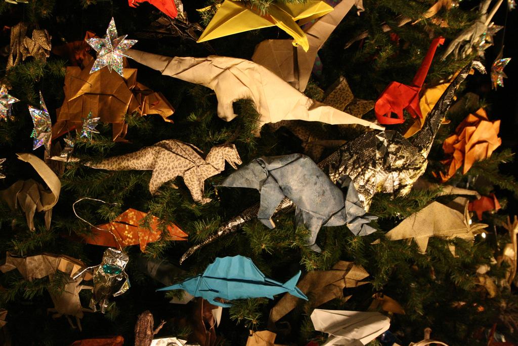 origami dinosaur decorations