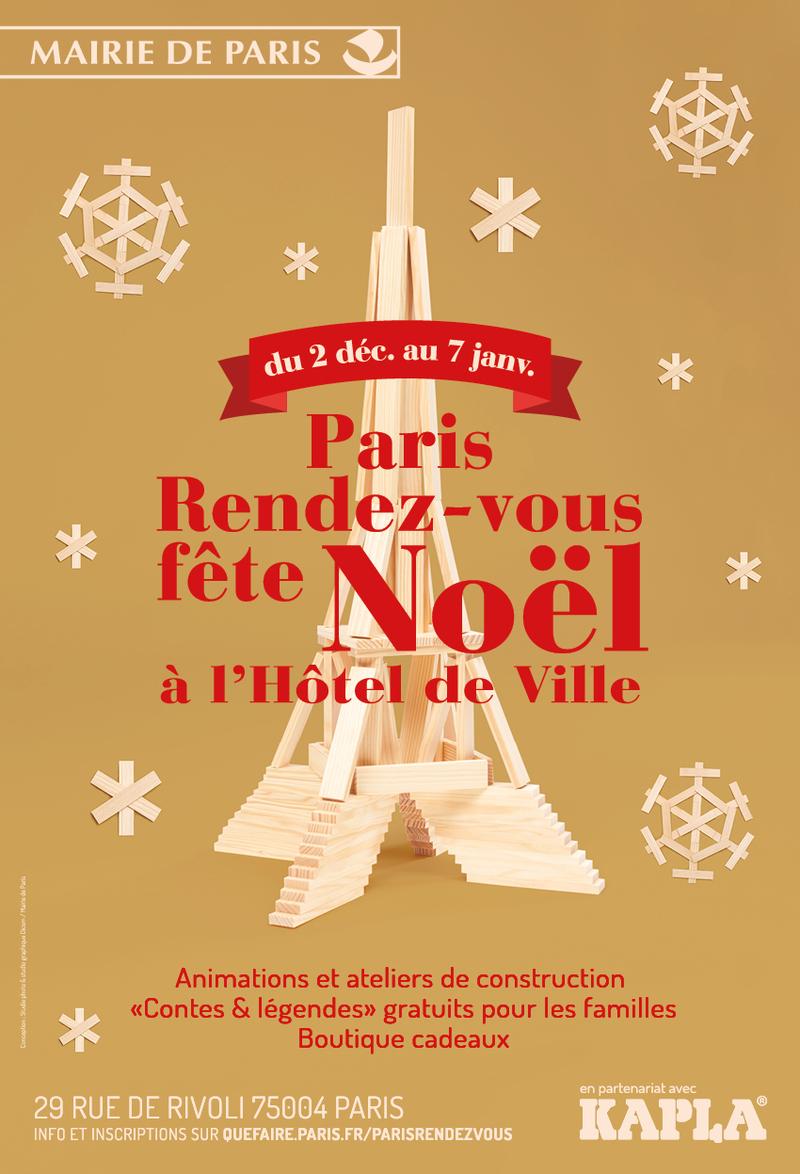 Paris Rendez-Vous fête Noël avec Kapla