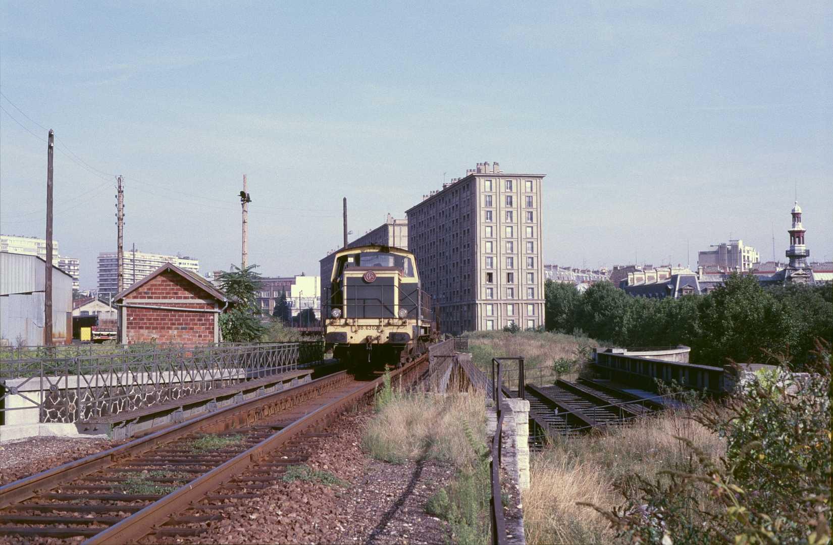 La gare de marchandises de Reuilly en septembre 1985