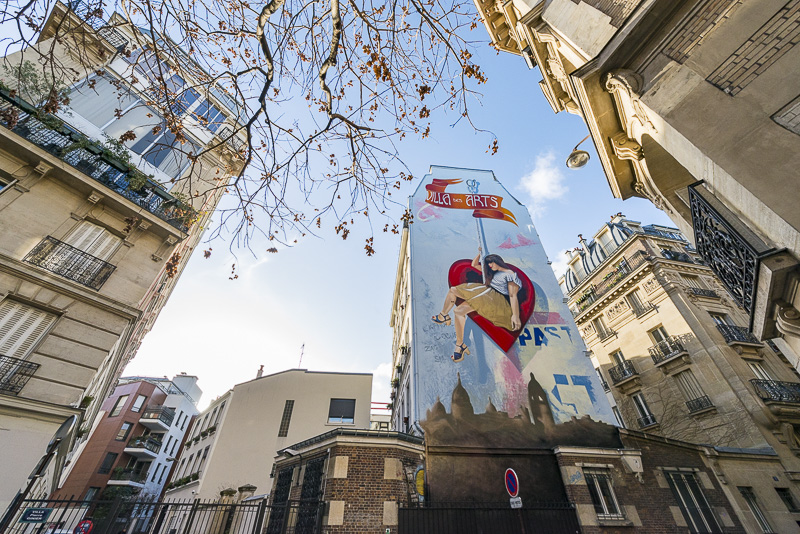 L'attrape-cœurs, fresque de Zag et Sia