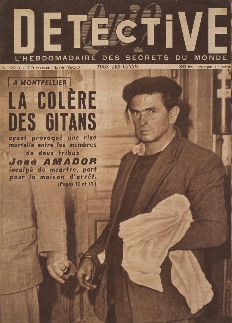 « La Colère des Gitans », Detective, n°229, 20 novembre 1950