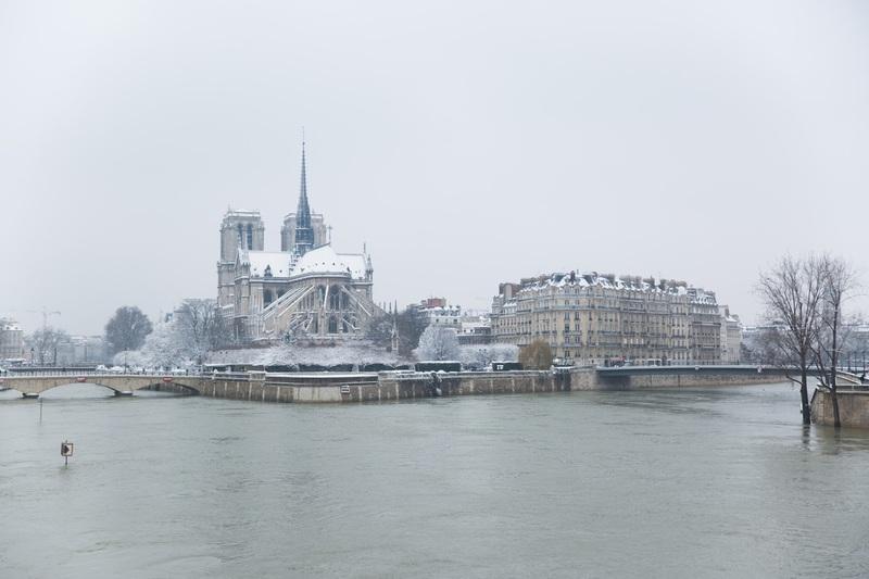 Seine et neige