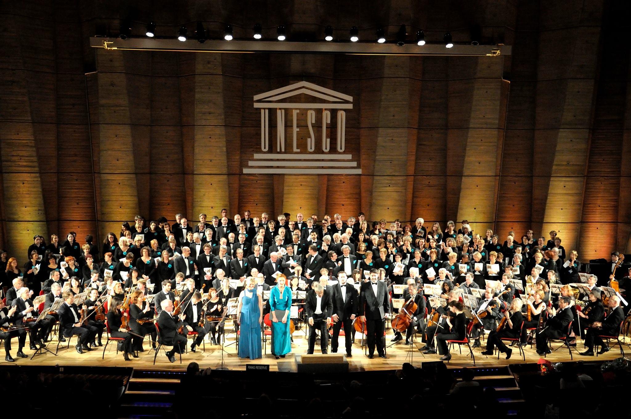 L'Orchestre Artistes en Action concert à l'Unesco