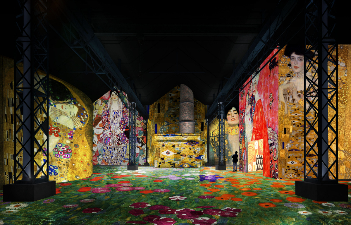 """Simulation avec exposition immersive """"Gustav Klimt"""""""