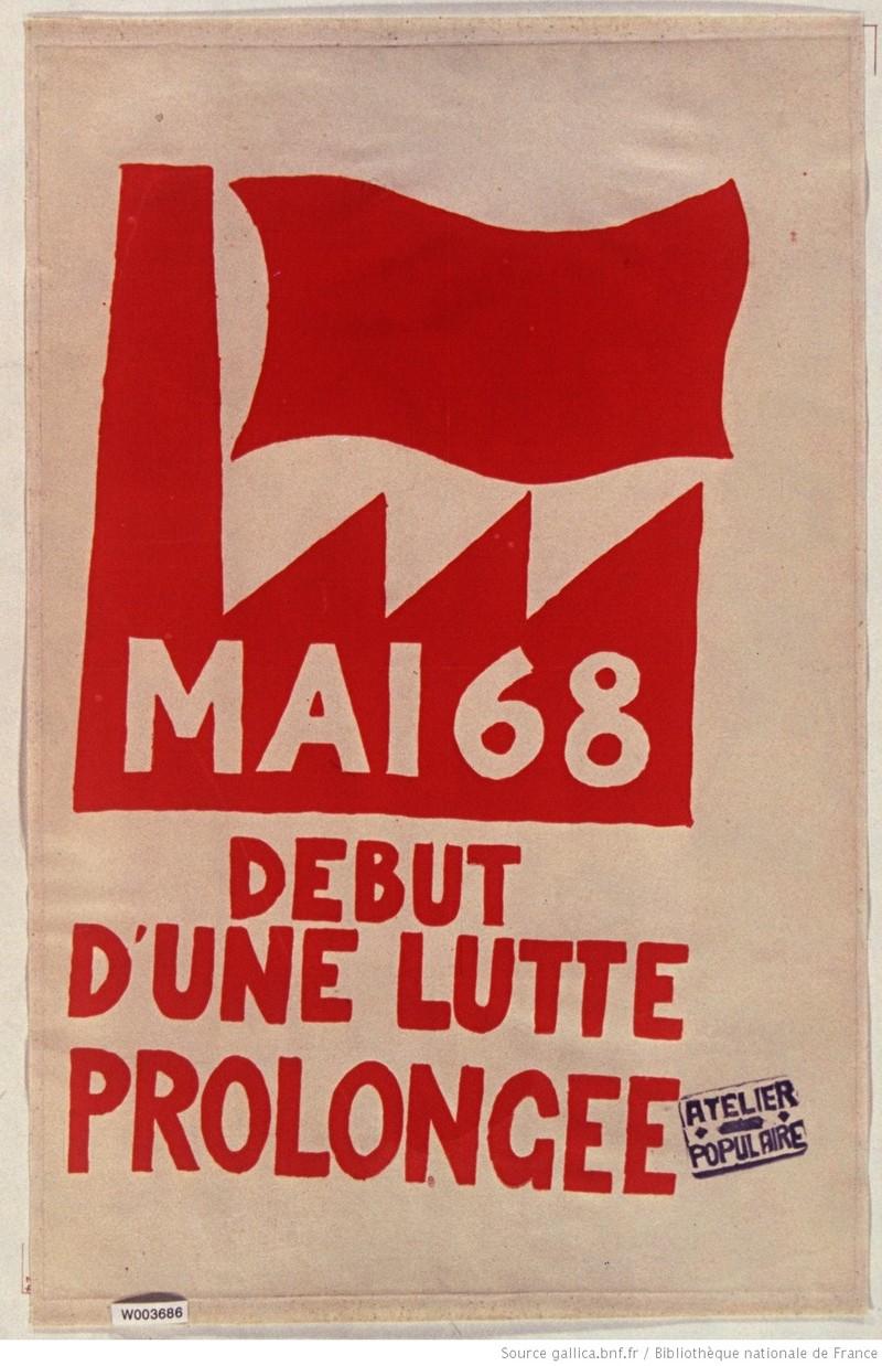 [Mai 1968]. Mai 68 début d'une lutte prolongée, Atelier populaire : [affiche] / [non identifié]