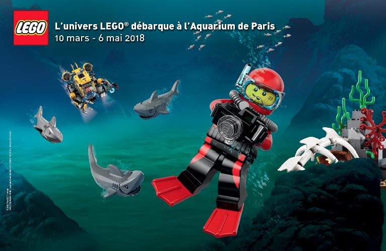 Légo à l'aquarium de Paris
