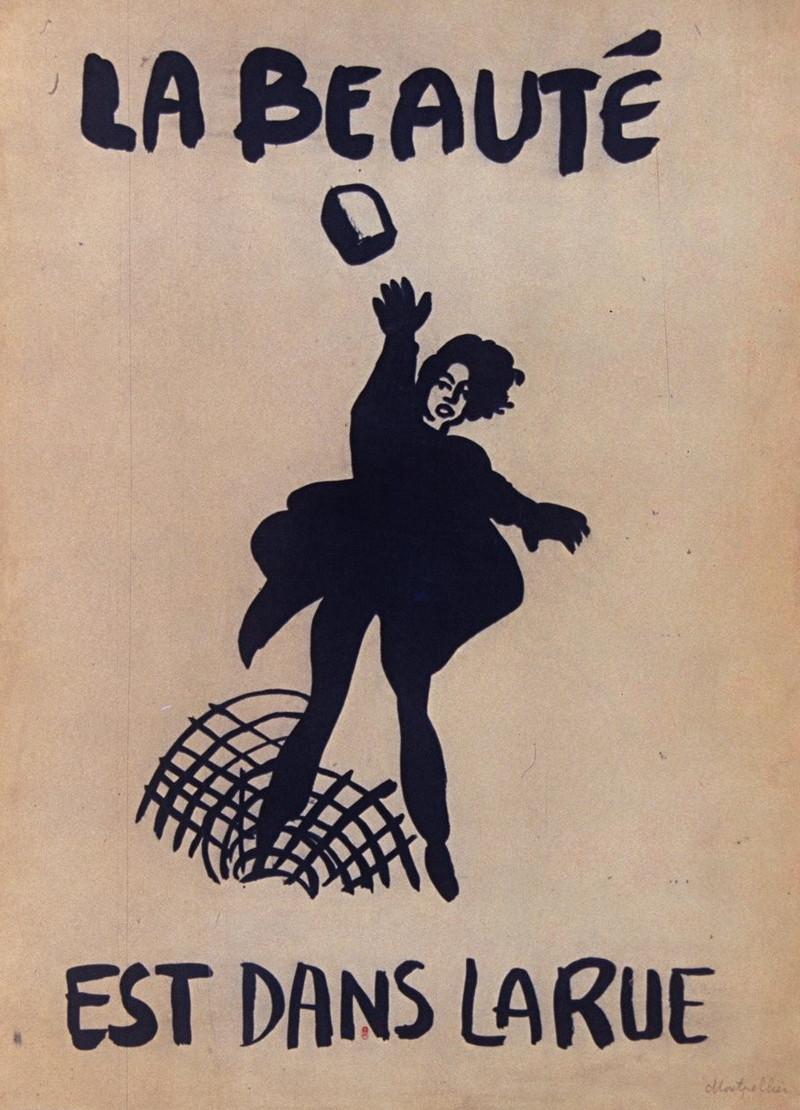 Mai 1968, La beauté est dans la rue / domaine public / source : gallica.bnf.fr / Bibliothèque Nationale de France